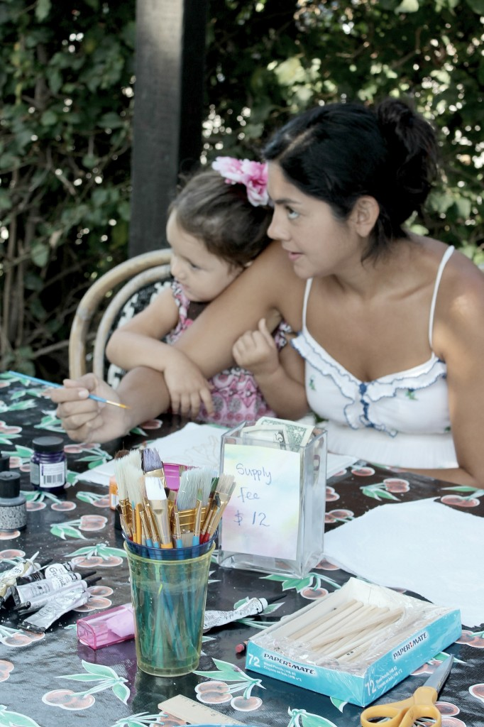 130910 Yvonne and Valentina silk painting