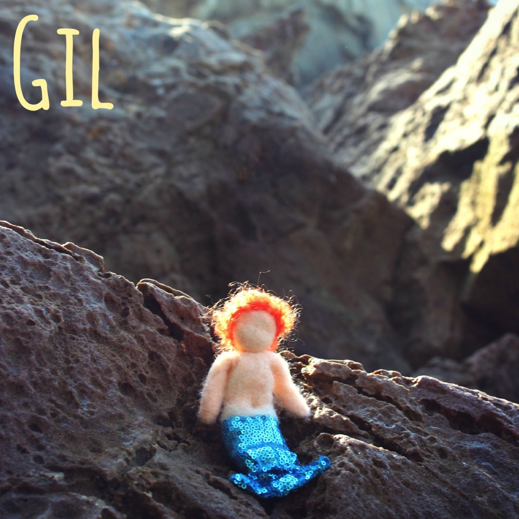 130912 Square. with name. Merboy Gil sitting alone in the ravine morning sun
