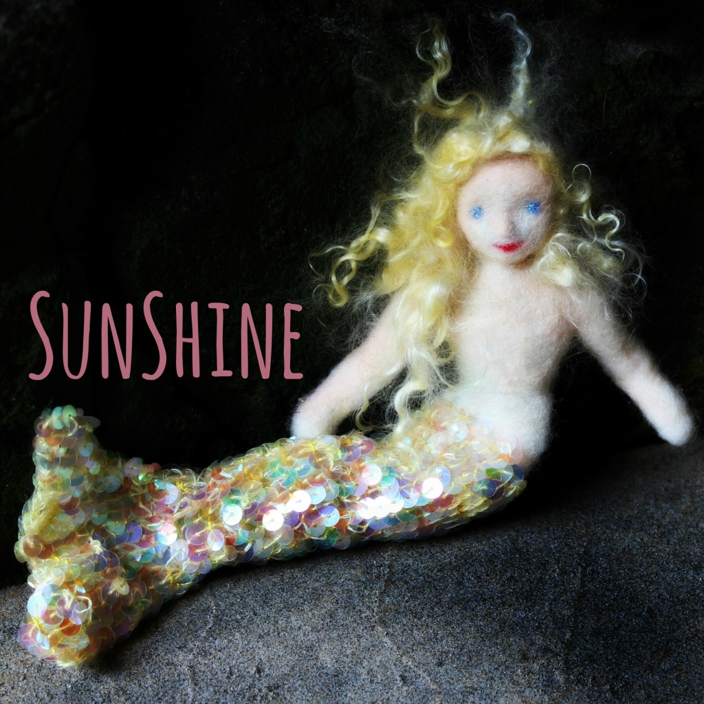 130913 Square. with words. Mermaid sunshine in a cave. Square cropped. No logo