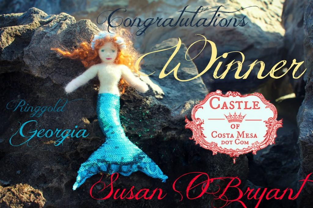130923 Congratulations Merfolk Giveaway Winner Susan O'Bryant from Ringgold, Georgia! Mermaid Georgiana the morning sun on rocks