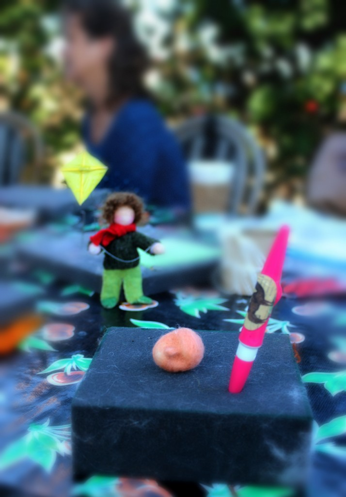 130924 Jzin's felting pad plus kite boy for Ms Lorri