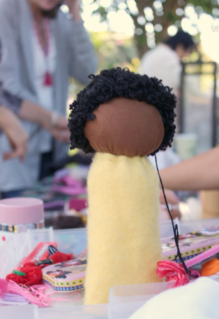 131001 Jzin's simple faceless table top puppet nubian prince african boy doll
