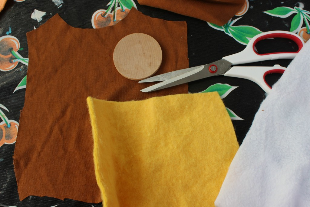 131001 Skin and body fabric for making Nubian prince table top puppet