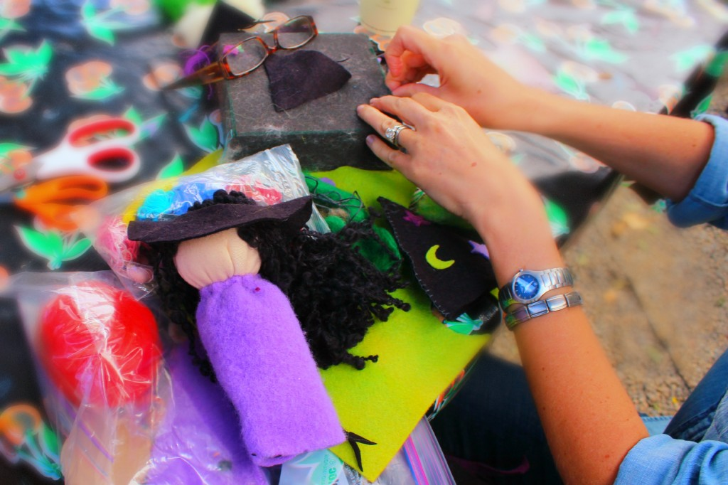 131007 Heather working on her table top puppet from last week