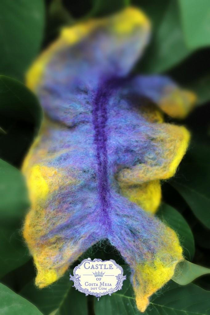 131008 Jzin'd purple orange nuno wet-felted kelp. in length. logo