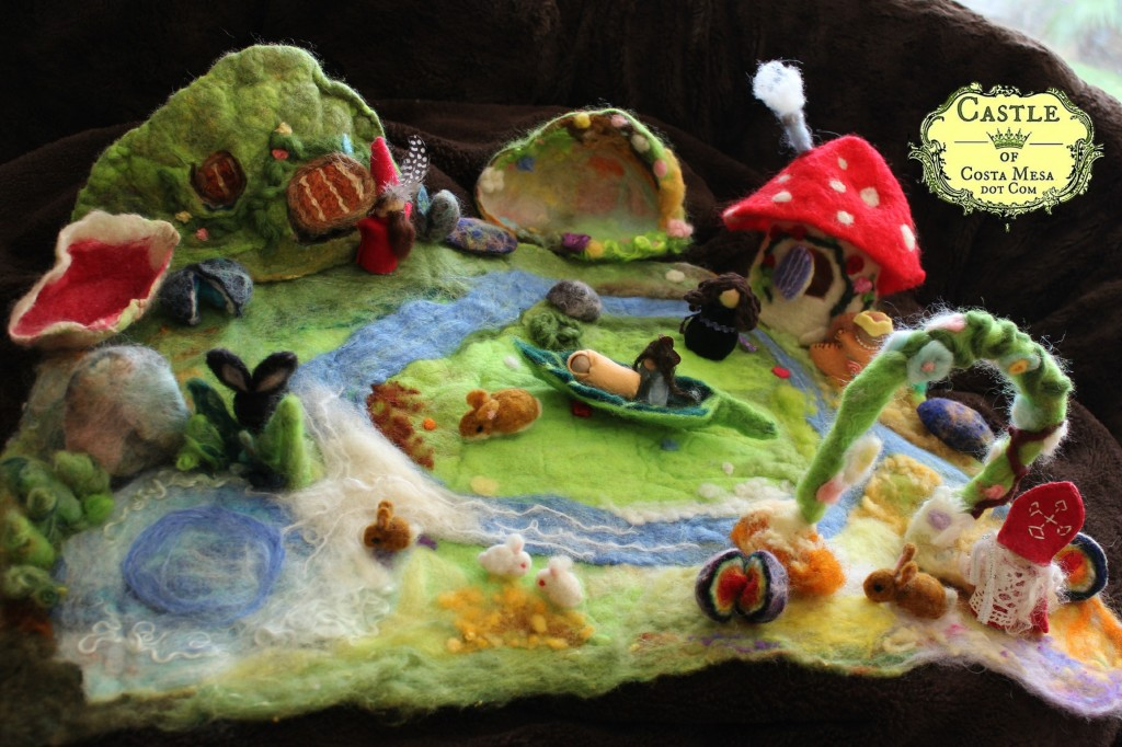 131031 Nunu's first wet-felted playscape overview photo