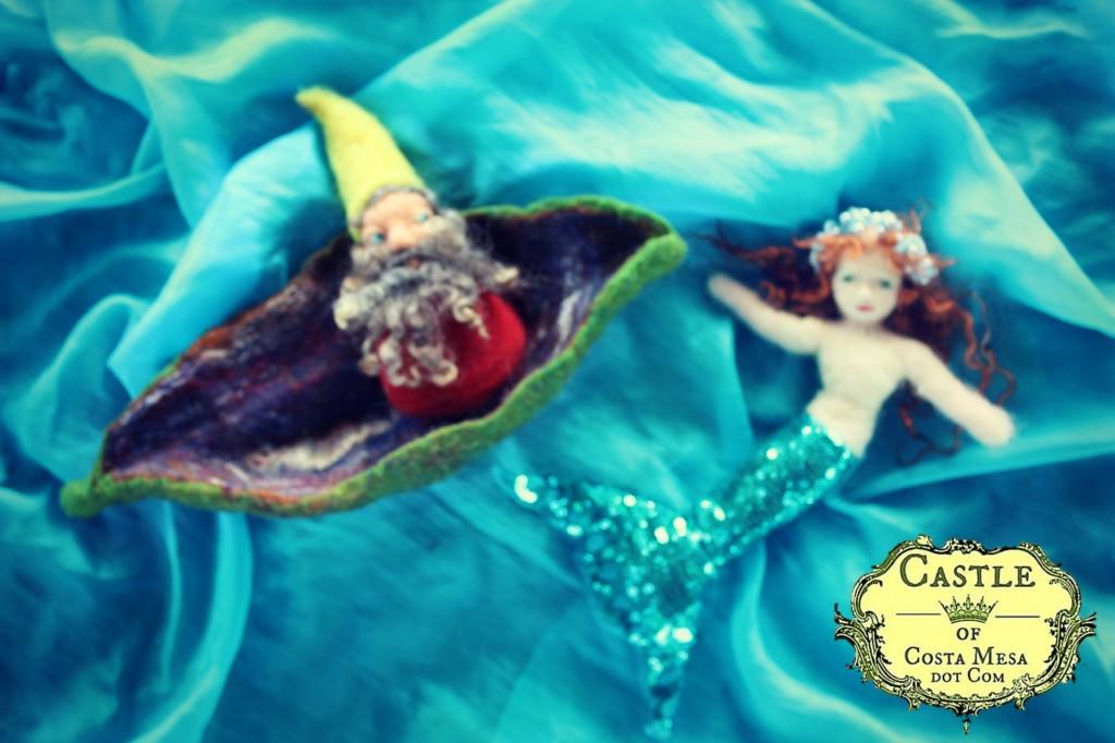 131030 Dream of a dwarf on a leaf boat mermaid Georgiana beneath the surface