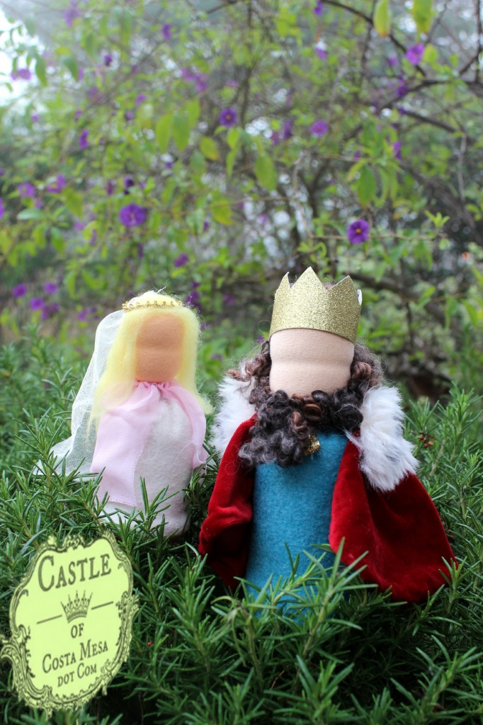 150205 Jzin's princess and king Waldorf table top puppet for Miss Michaela at playgroup.