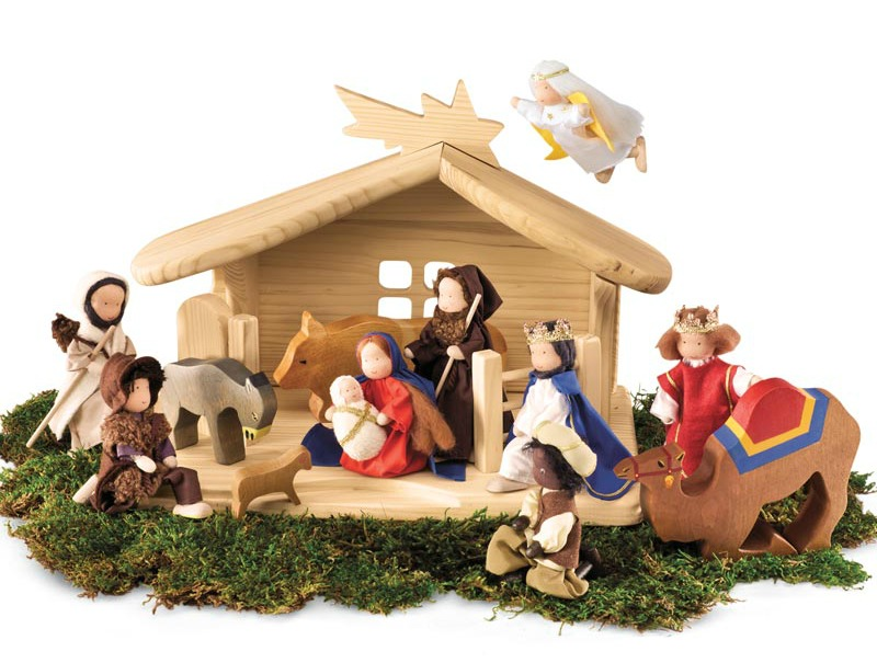 131106 Kathe Kruse Magic Nativity Dolls Set Magic Cabin
