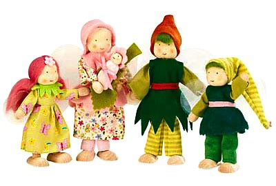 131106 edited Kathe Kruse Magic Cabin gnome fairy doll set
