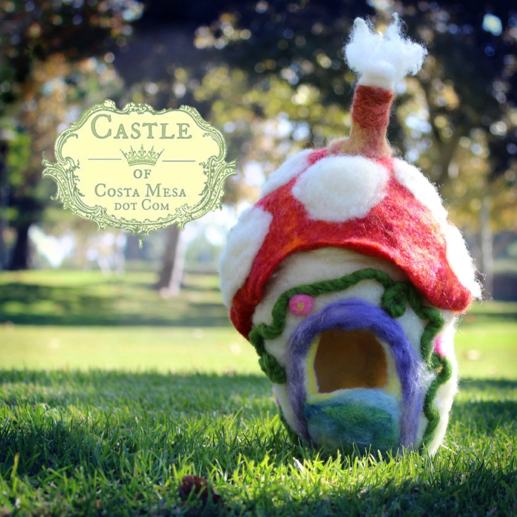 131109 Jzin's Felt mushroom gnome home at Tanager Parksquare cropped
