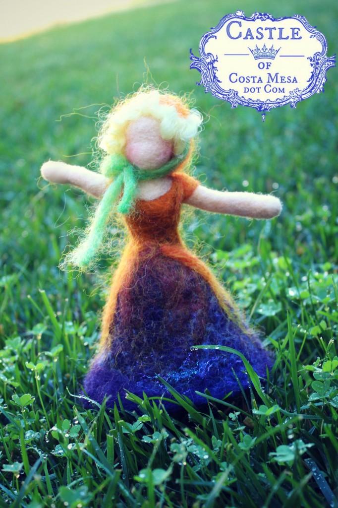 131113 Pansy Flower Fairy joyful arms outstretched dancing portrait orientation logo
