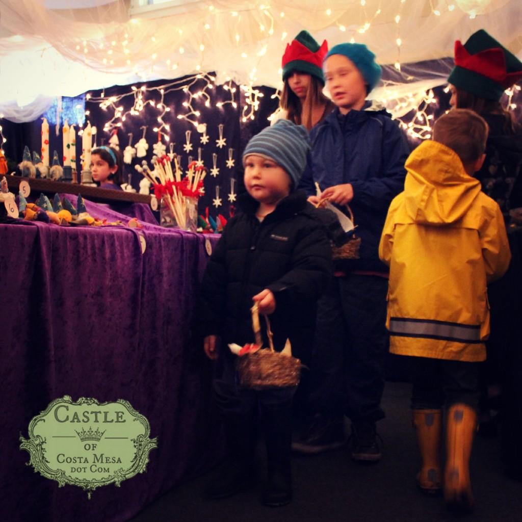 131207 Kim's boys shopping in the Elves Workshop