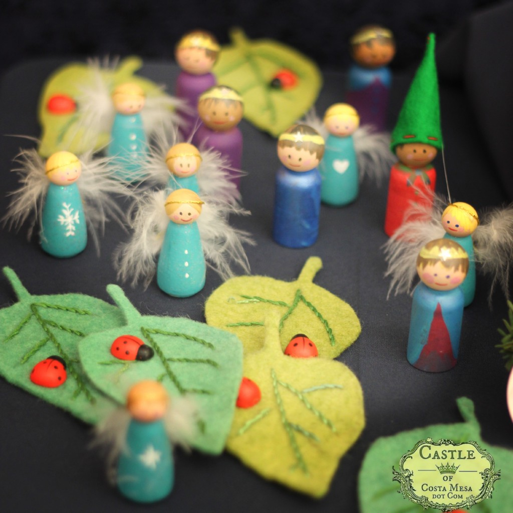 131207 Renuka's wooden peg doll fairies, gnomes and princes