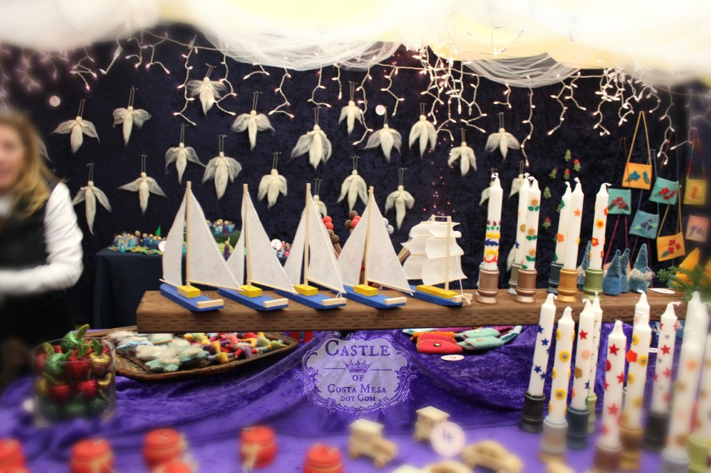 131207 Sailboats, candles, white roving angels, felt bags and Pam