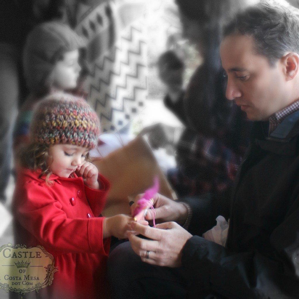 131207 Valentina showing pink blossom fairy to daddy
