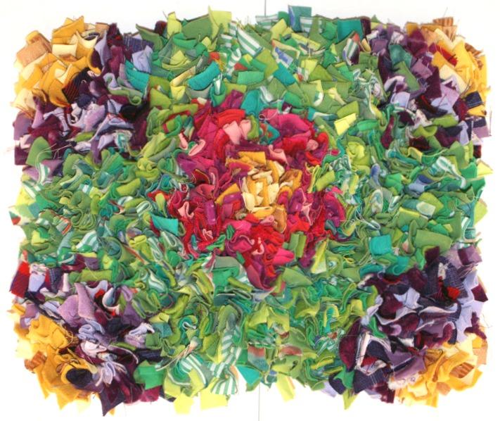 140107 Hooked rag rug mat by Rachel Knight. CastleofCostaMesa.Com