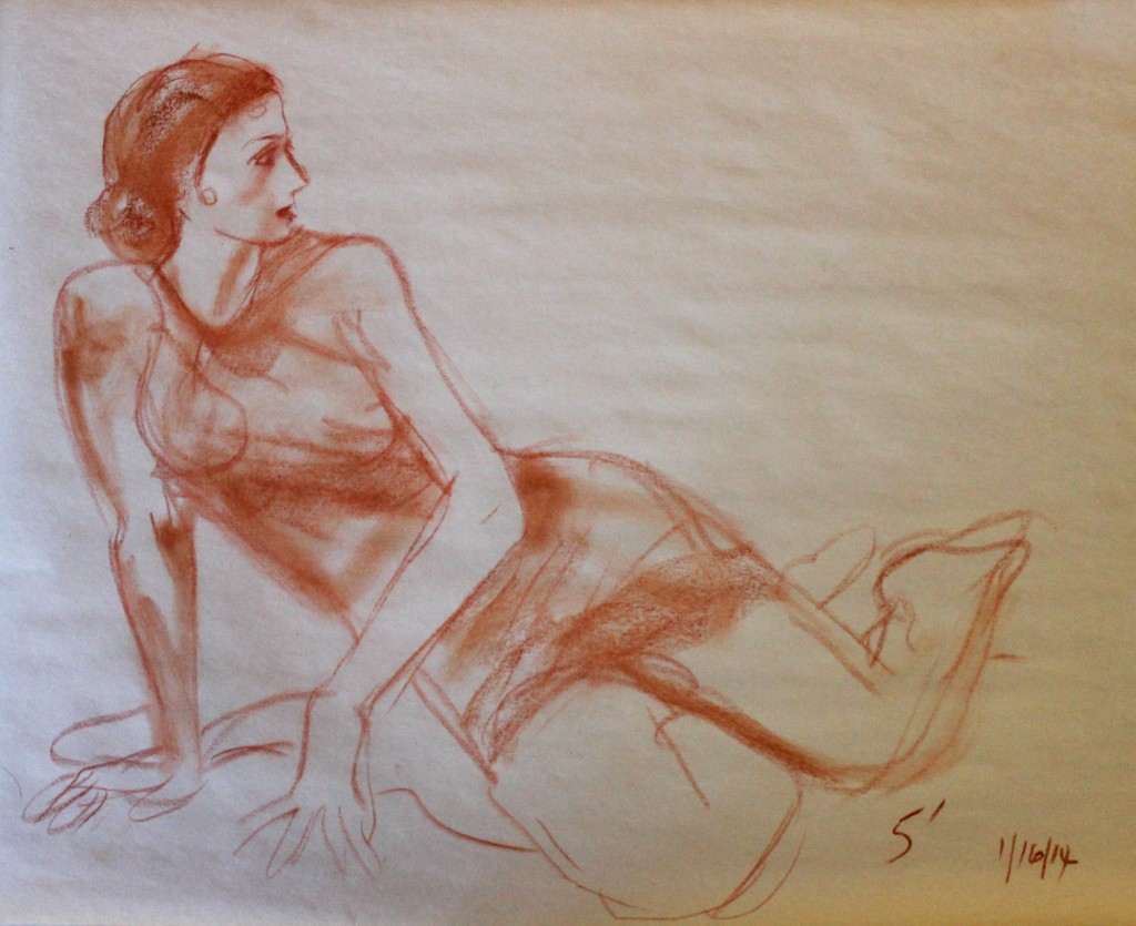 140116 Anabelle the flamenco dancer defensive scrambling 5' pose