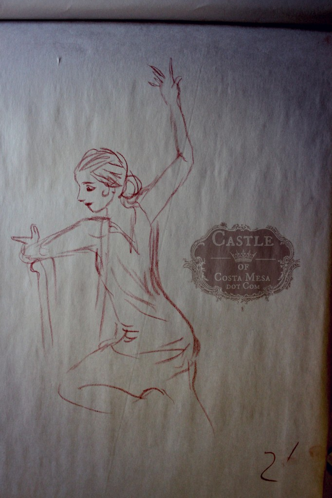140116 Annabelle the flamenco dancer 2 minute sanguine charcoal sketch.