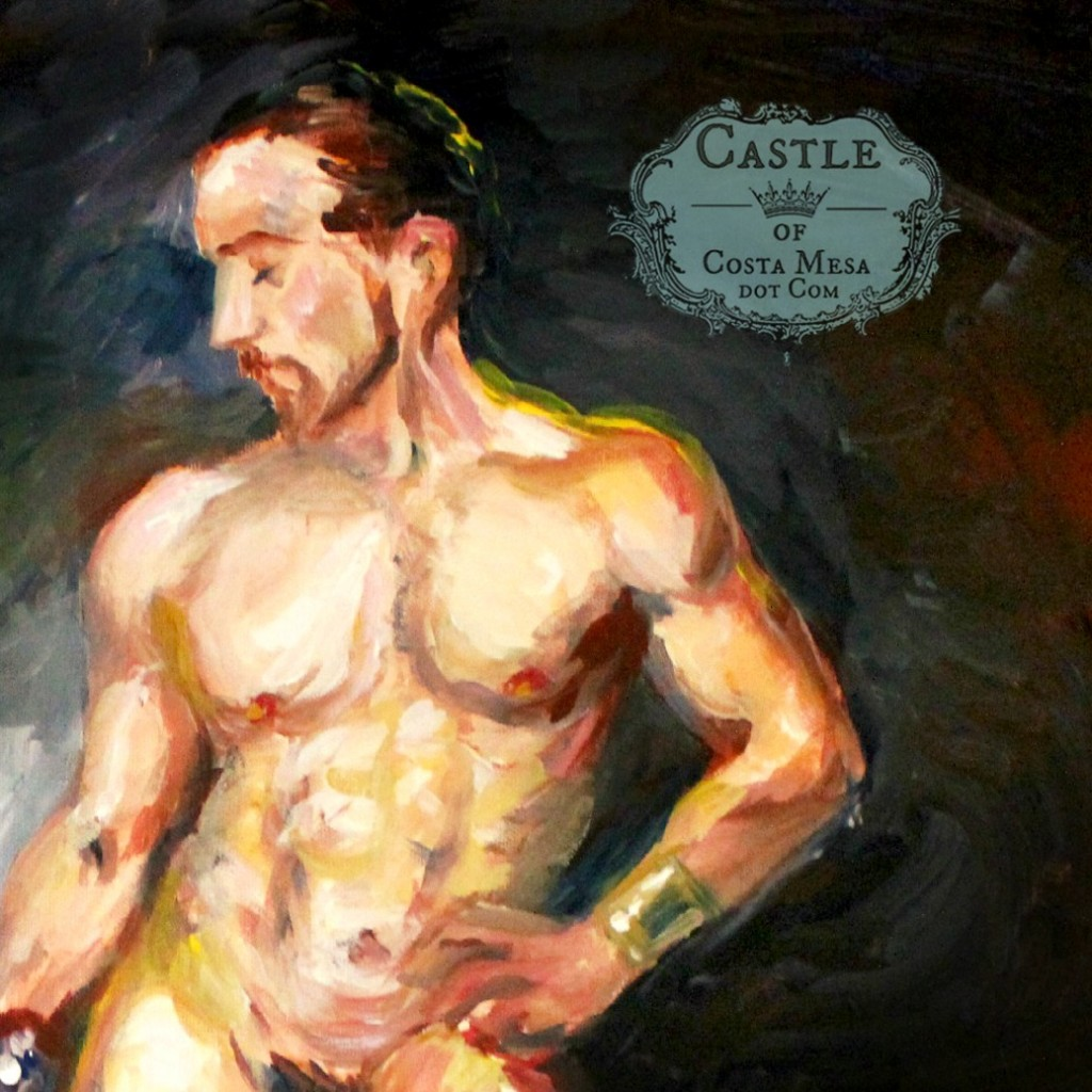 140131 Detail of torso, with logo.Yoni the Jew with scimitar. Life model academic nude at FMA studio, Costa Mesa no logo