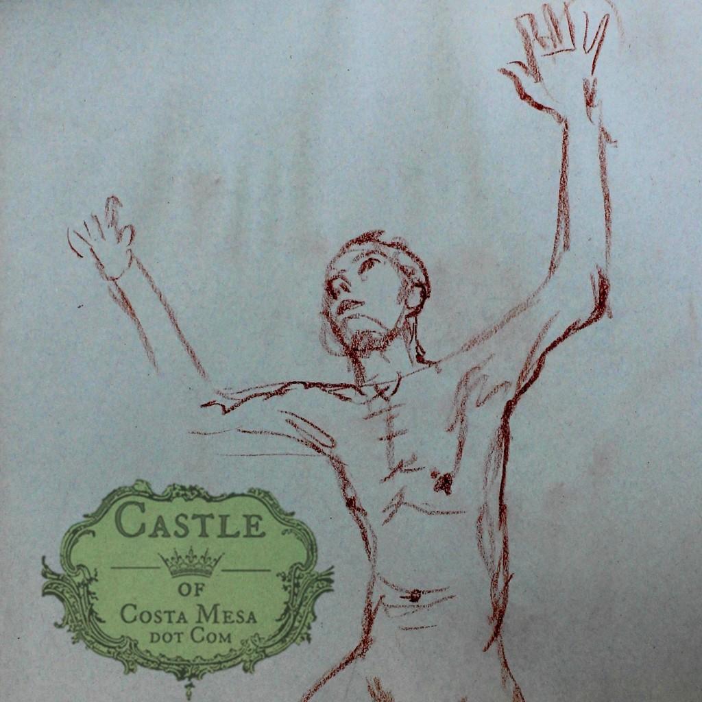 140220 Paul 2 minute sanguine sketch suppliant square cropped
