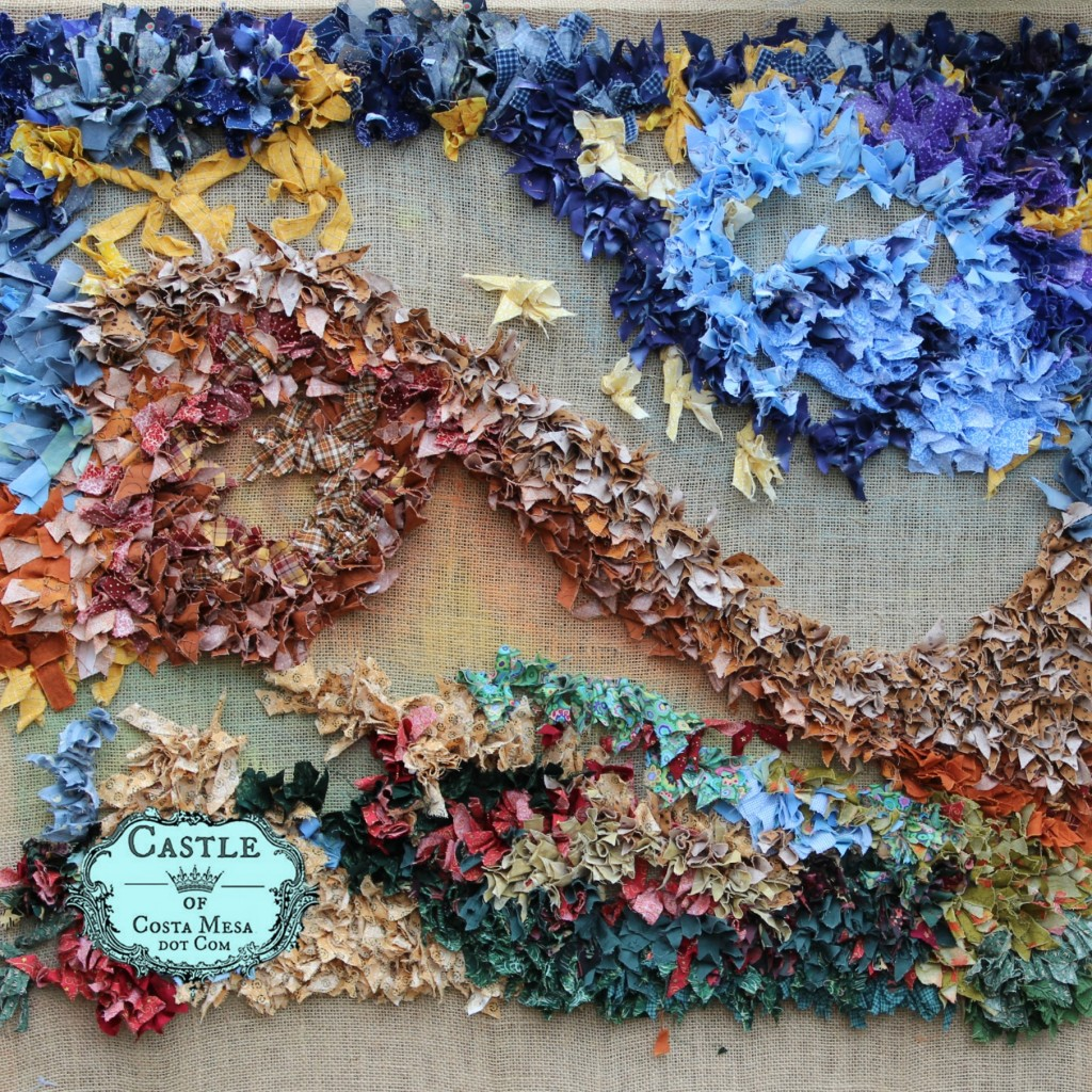 140304 Hooked rag rug progression snapshot. square cropped with logo