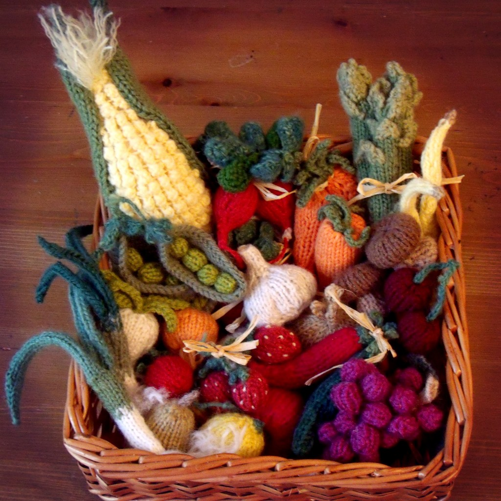 Basket of veggies by Sachiyo Ischii. Square cropped