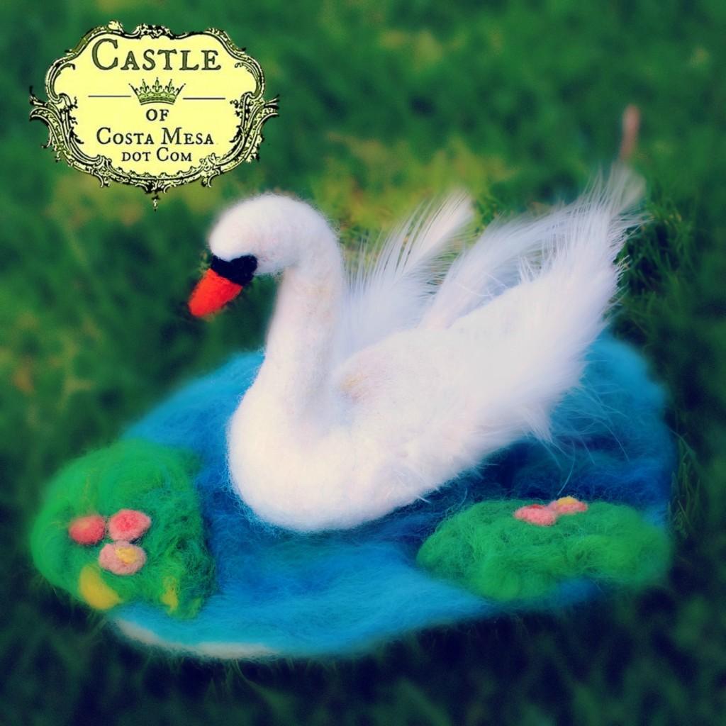 140211 Kathy's needle-felted swan