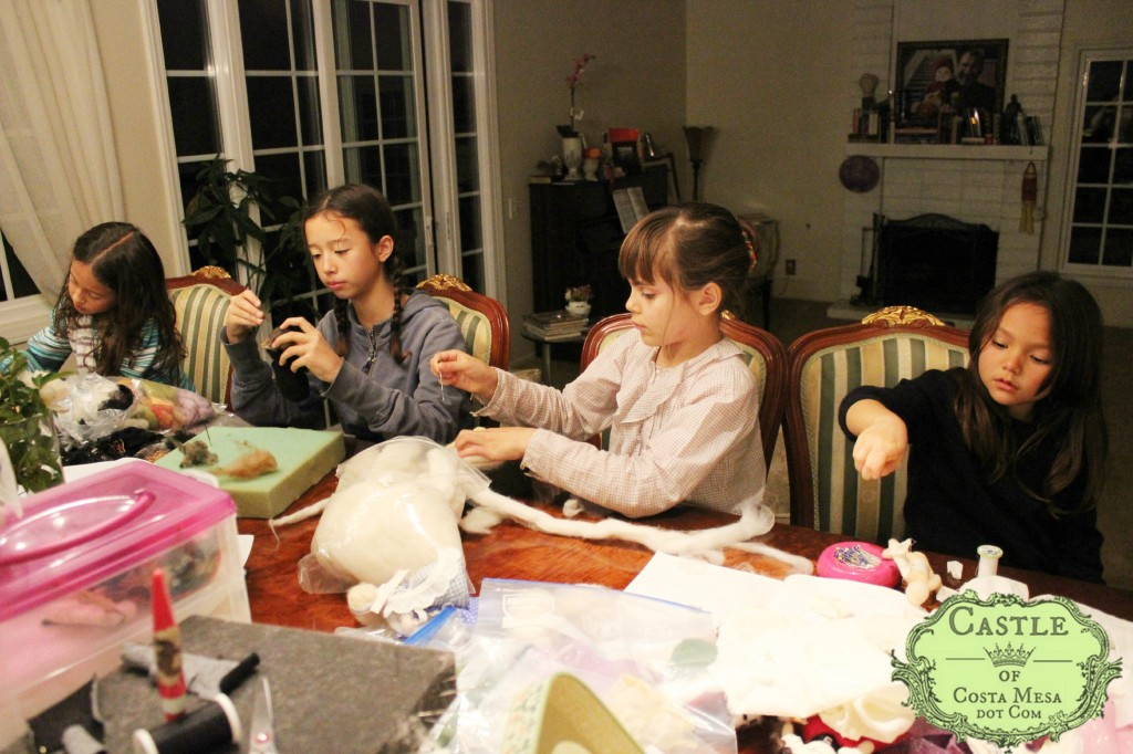 140301 Children busy crafting fairy tale dolls as donation for Waldorf School of Orange County 2014 fundraiser