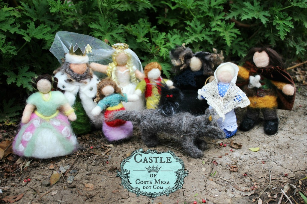 140313 Fairy Tale Dolls handmade by children group pictures in the woods
