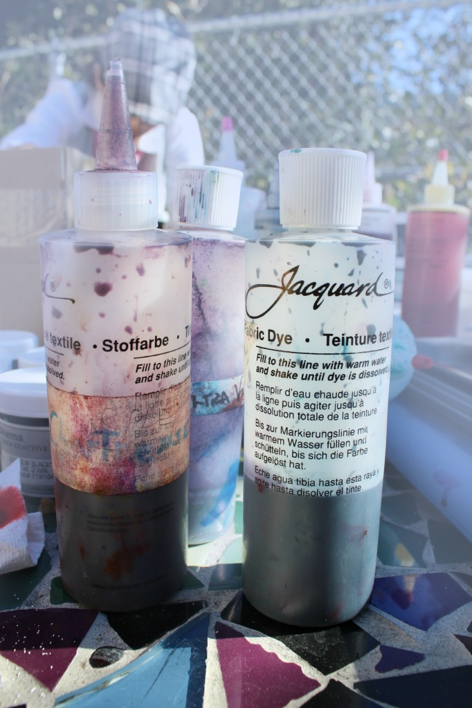 140114 Jacquard Acid dye for dyeing shibori silk scarves.