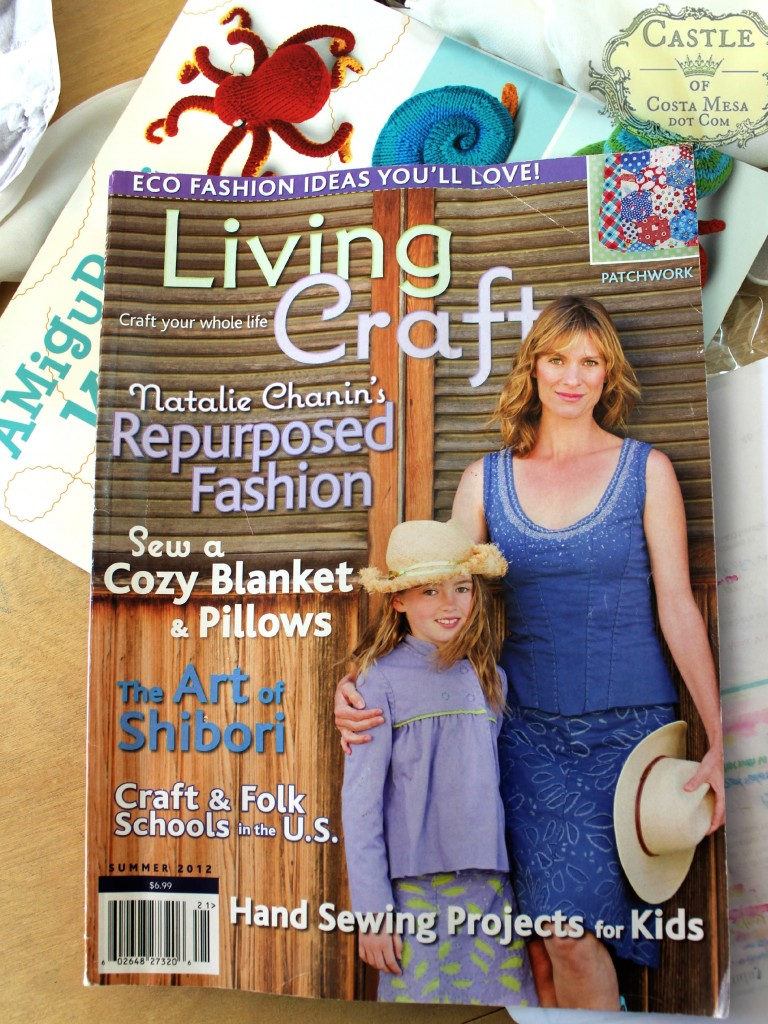 140114 Summer 2012 issue of Living Crafts Magazine. Waldorf natural eco fashions and crafts. The Art of Shibori, hand sewing projects for kids