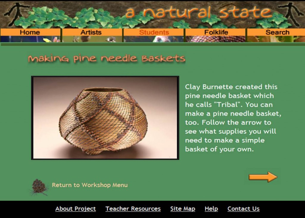 140304 Clay Burnett Tribal pine needle basket tutorial. A Natural State. tutorial