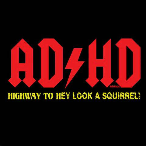 ADHD Highway to Hey Look a squirrel