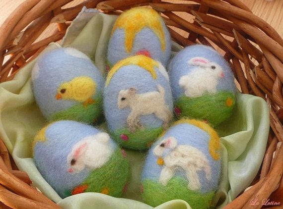 140408 Sandra Mil's Etsy Store La Lutine felted easter eggs