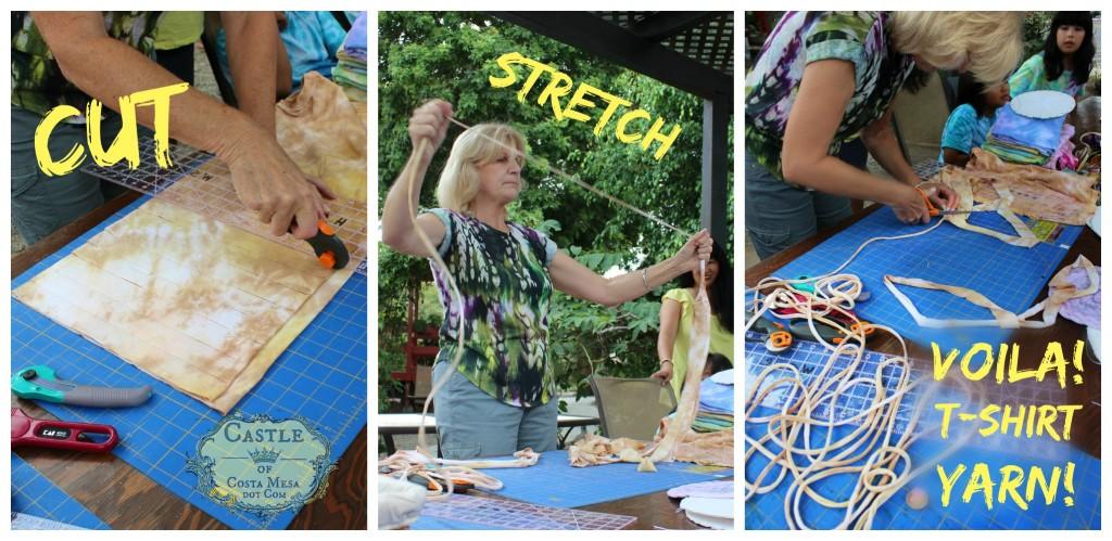 140908 Cut, stretch, Voila! T-shirt yarn! CastleofCostaMesa.com tutorial 2