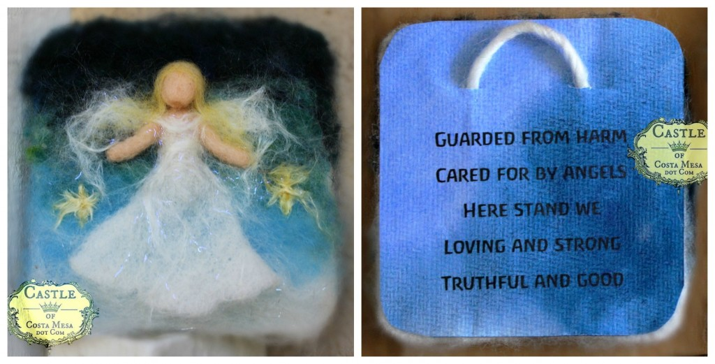 140915 Dyptich wool guardian angel tapestry with verse on water color paper on back 2
