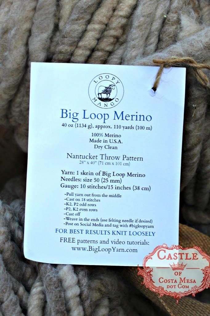 140922 Big loop Merino Loopy Mango yarn 40oz 110 yards 2