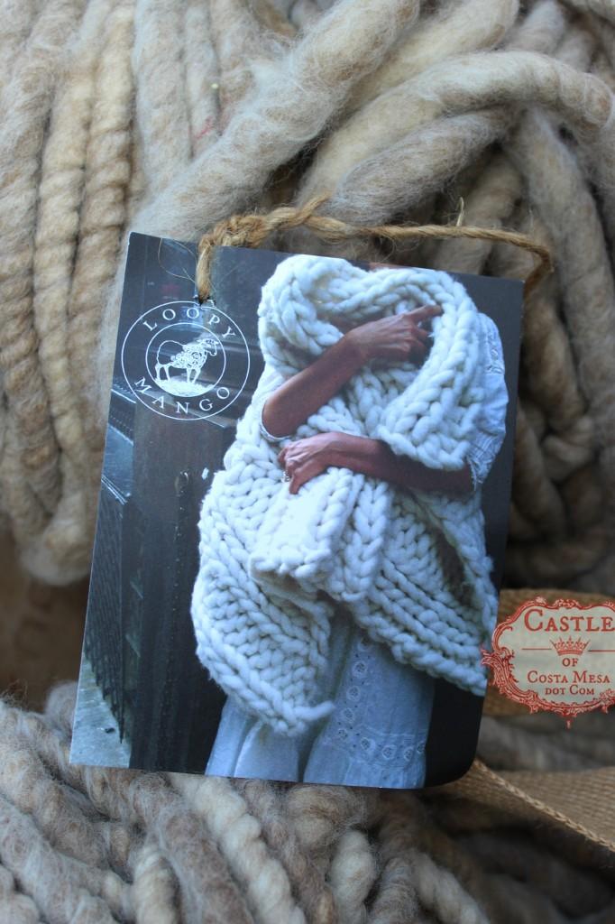 140923 Christine's Loopy Mango gigantic gauge knitting yarn for making blanket 2