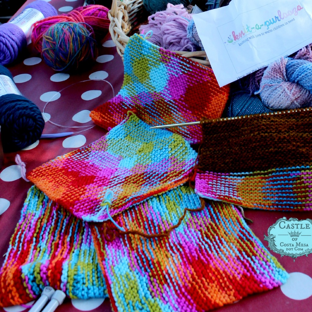 140929 Knit a square Knit-a-square for charity Knitapurlooza 2