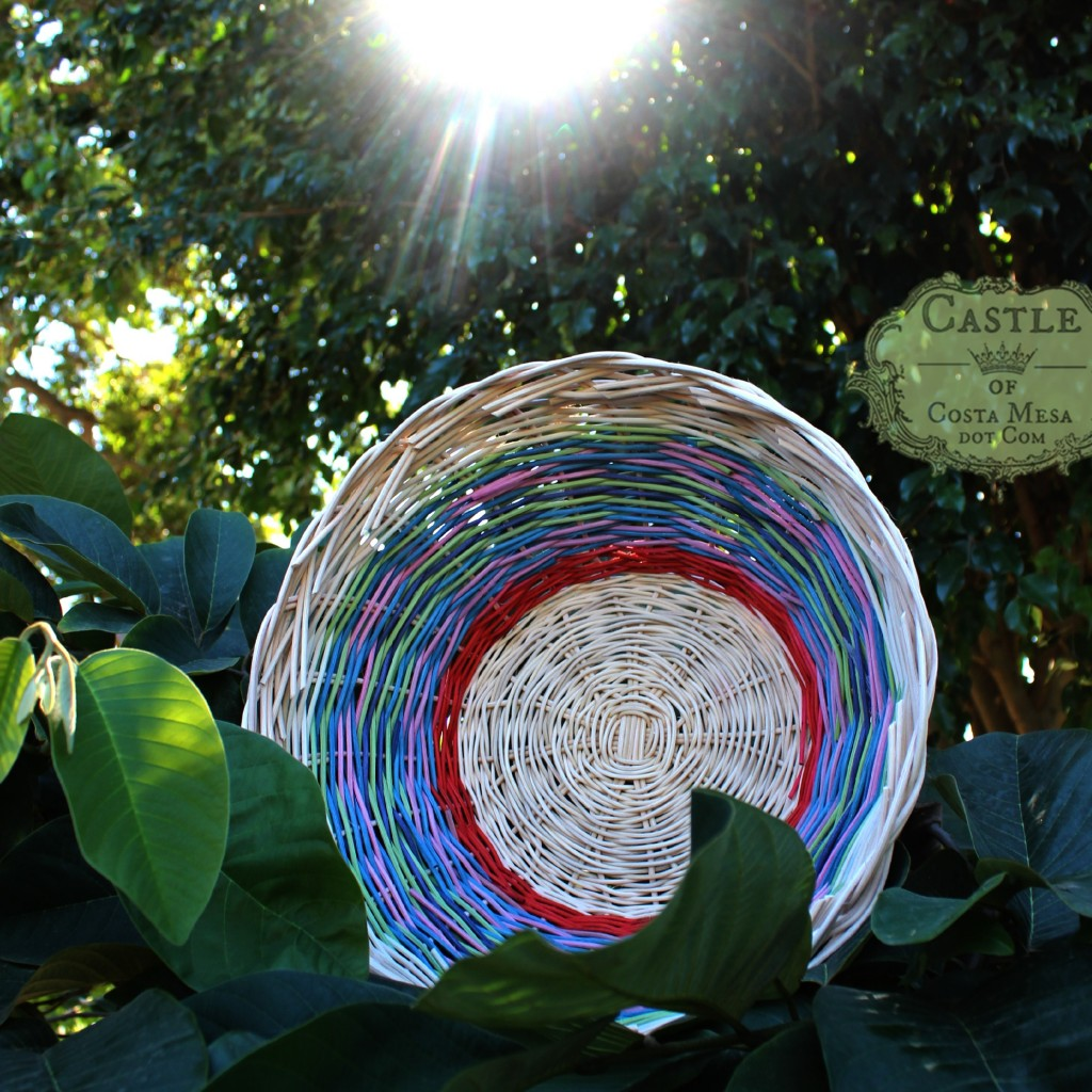 141103 Cathrine Ji's woven circular basket of many colors and the sun square cropped