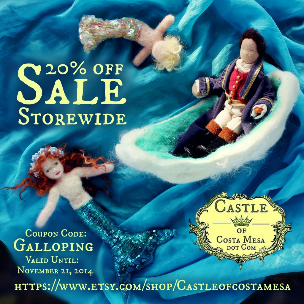 141114 20 off Sale storewide Galloping coupon code Boat Tutorial Castle of Costa Mesa