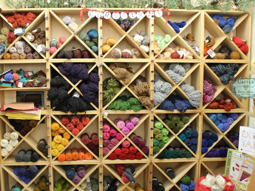 141117 Yarn, felt, doll-making, needle-felting arts and craft supplies at The Company of Angels Gift Shop in Costa Mesa, Southern California, USA.