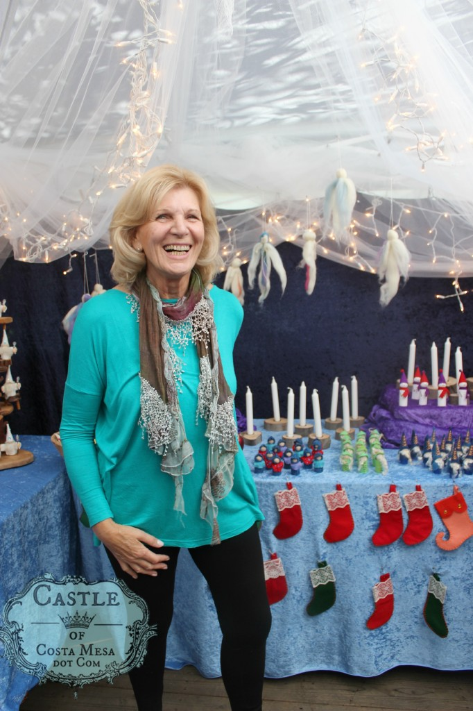141206 Christine Newell inside Elves Workshop 2014 At WSOC Waldorf School of Orange County Winter Festival celebration.