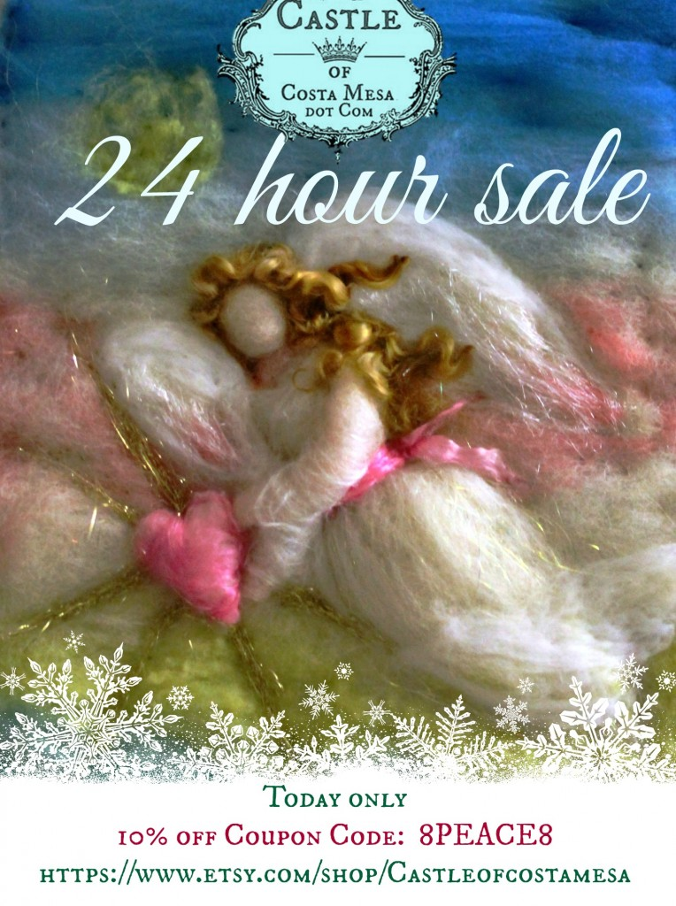 141214 24 hour sale today only Guardian Angel shining love and compassion onto fears