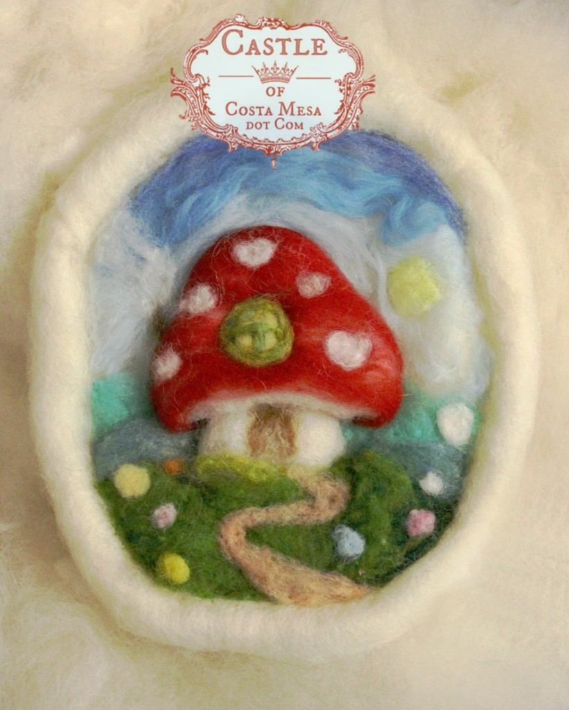 141208 oval white framed toadstool home on clouds by CastleofCostaMesa