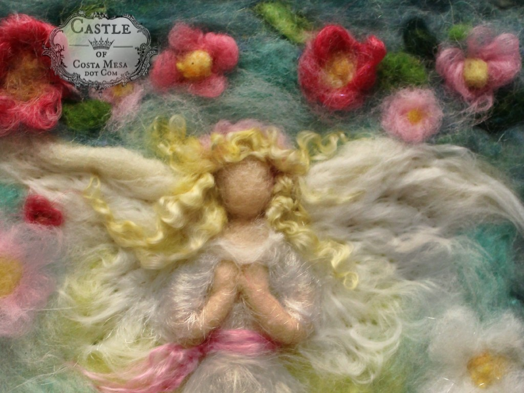 141231 Spring flower Blonde Guardian Angel by Jzin, Castle of Costa Mesa  7432 torso cropped.