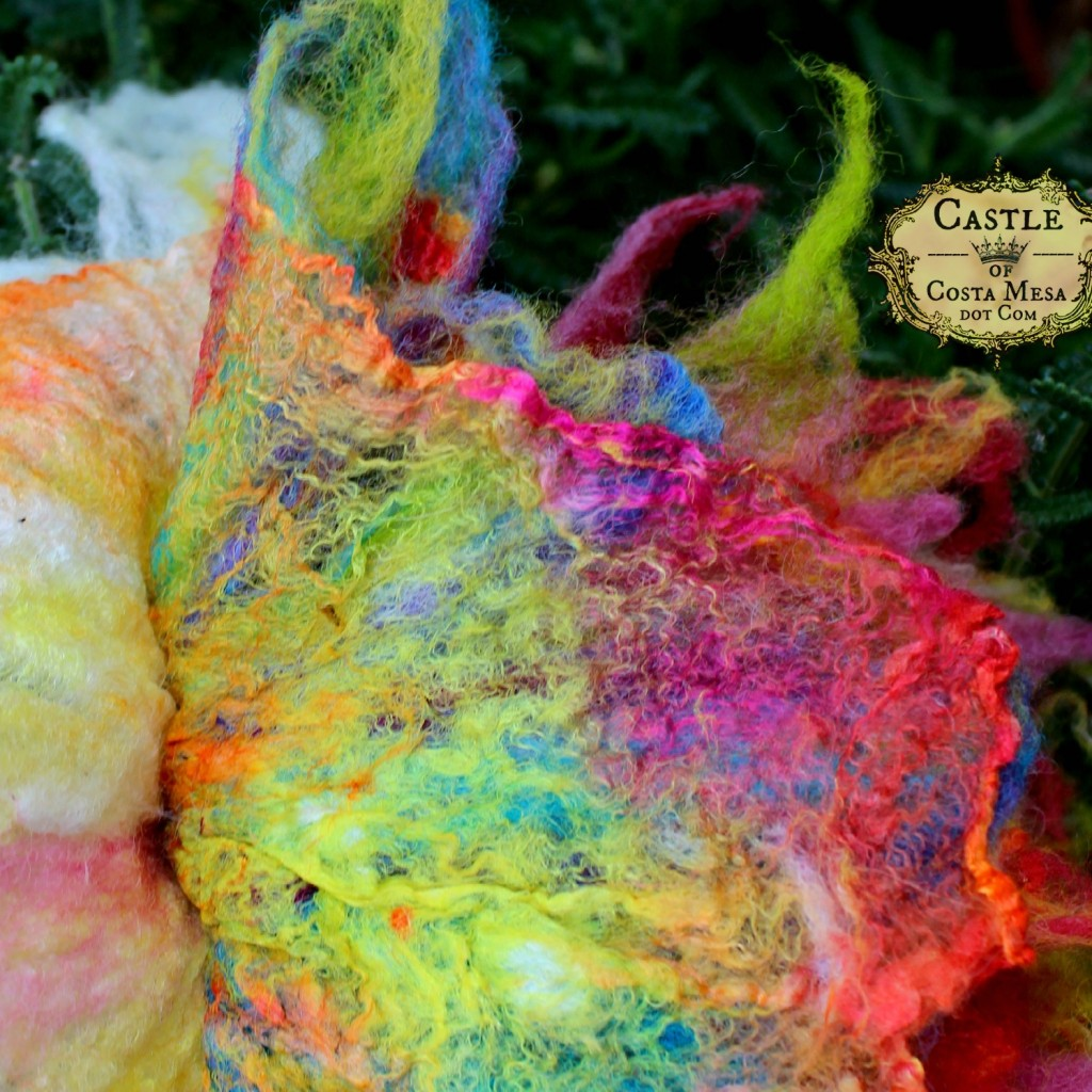 150504 Jzin's technicolor wet-felted flower 1084'