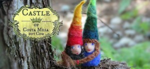 140730 Finger warmer gnomes Eddie and Ruth at ENC on a limb logo