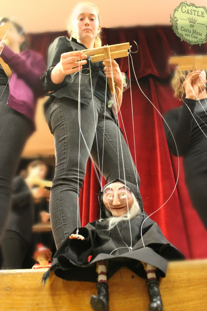 1816 150613 WSOC 9th Grade Marionette Show Witch string puppet